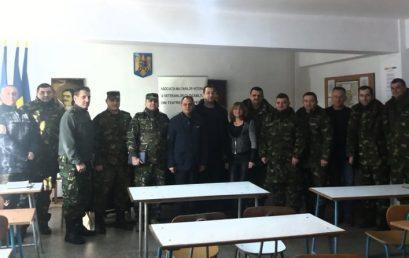 Vizită la Garnizoana Râmnicu Sărat împreună cu președintele SUCURSALEI VRANCEA