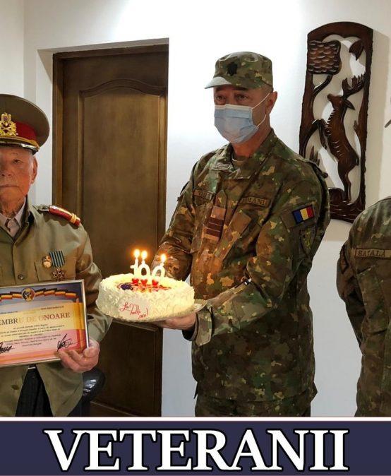 Veteran de război, sărbătorit de AMVVD MANGALIA, la împlinirea unui centenar de viață