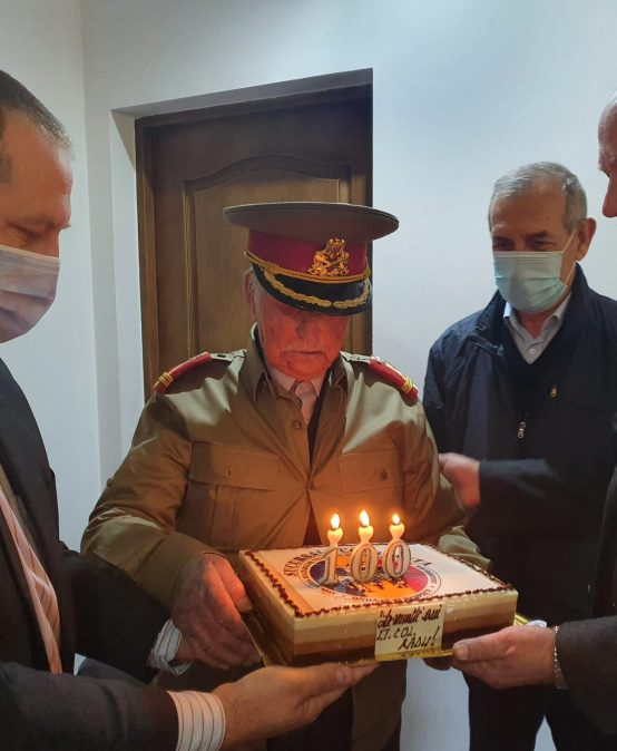 Veteran de război sărbătorit de sucursala AMVVD CONSTANȚA la împlinirea a 100 de ani!