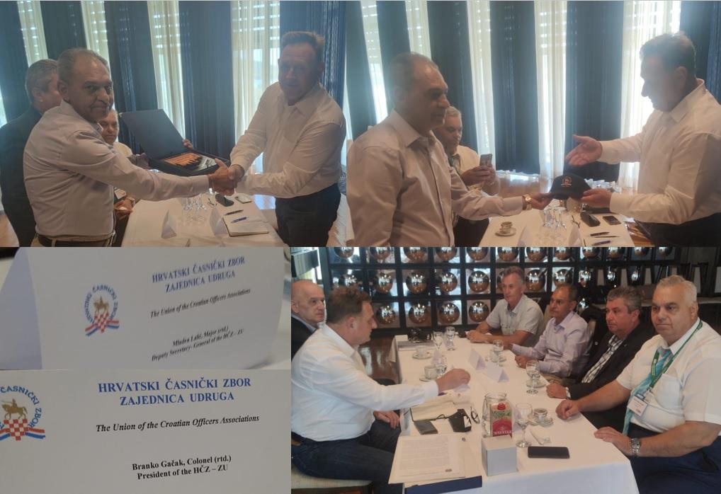 Delegația AMVVD s-a întâlnit astăzi cu delegația Uniunii Asociațiilor de ofițeri din Croația